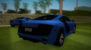 Audi R8 5.2 FSI for GTA Vice City miniature 3
