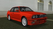 BMW M3 (E30) 1987 for GTA Vice City miniature 5
