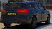 Police 2019 Ford Focus Wagon Unmarked for GTA 5 miniature 2