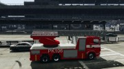 Scania R580 Fire ladder PK106 для GTA 4 миниатюра 5