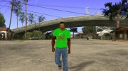 CJ в футболке (Radio Los Santos ) for GTA San Andreas miniature 2