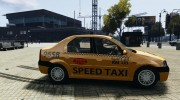 Dacia Logan Prestige Taxi for GTA 4 miniature 5