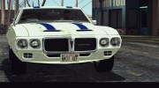 1969 Pontiac Firebird Trans Am Coupe (2337) для GTA San Andreas миниатюра 2
