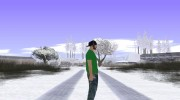 Skin GTA Online в футболке Thank God for GTA San Andreas miniature 3