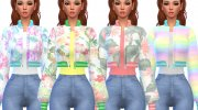 Snazzy Bomber Jacket Top for Sims 4 miniature 2