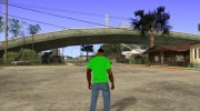 CJ в футболке (Radio Los Santos ) for GTA San Andreas miniature 5