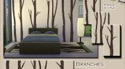 Branches Walls Set for Sims 4 miniature 2