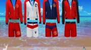 DSF Swimwear Lifeguard for Sims 4 miniature 3