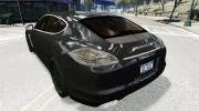 Porsche Panamera Turbo 2010 (black edition) for GTA 4 miniature 3