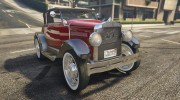 Ford T 1927 Roadster for GTA 5 miniature 1