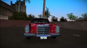 Mercedes-Benz 300 SEL 6.3 (W109) 1967 for GTA Vice City miniature 4