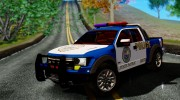 Ford F-150 SVT Raptor 2012 Police version for GTA San Andreas miniature 16