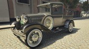 Ford A Pick-up 1930 for GTA 5 miniature 11