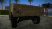 HMMWV M-998 1984 Desert Camo for GTA Vice City miniature 4