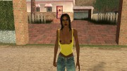 Country Girl Brunette T-Shirt для GTA San Andreas миниатюра 1