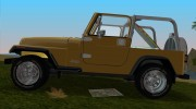 Jeep Wrangler 4.0 Fury 1986 for GTA Vice City miniature 2