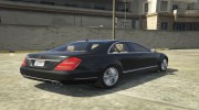Mercedes-Benz S600 2009 for GTA 5 miniature 5