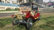 Ford T 1910 Passenger Open Touring Car for GTA 5 miniature 1