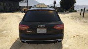 Audi RS4 Avant 2013 for GTA 5 miniature 7