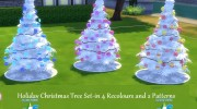 4 Recoloured Holiday Christmas Tree Set for Sims 4 miniature 1
