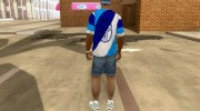 Сине-бело-голубая футболка for GTA San Andreas miniature 3