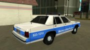 Ford LTD Crown Victoria 1991 Massachusetts Metro Police for GTA San Andreas miniature 3