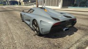 2015 Koenigsegg Regera for GTA 5 miniature 3