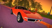 Chevrolet Corvette (C3) Stingray T-Top 1969 for GTA Vice City miniature 1