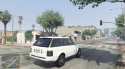 Range Rover Supercharged 2012 для GTA 5 миниатюра 5