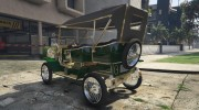 Ford T 1910 Passenger Open Touring Car for GTA 5 miniature 7