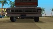 1971 Ford F-350 U-Haul для GTA Vice City миниатюра 6