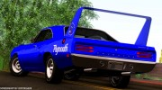 Plymouth Roadrunner Superbird RM23 1970 для GTA San Andreas миниатюра 2