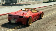 Ferrari 458 Italia Spider (LibertyWalk) for GTA 5 miniature 3
