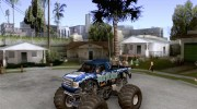 Monster Truck Blue Thunder for GTA San Andreas miniature 1
