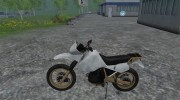 Kawasaki KLR650 for Farming Simulator 2015 miniature 4
