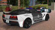 Chevrolet Corvette C7 Police for GTA Vice City miniature 6