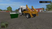 MAN skip truck with container (v1.0 Pummelboer) for Farming Simulator 2017 miniature 2