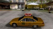 Chevrolet Caprice taxi for GTA San Andreas miniature 2