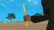 Butterfly Knife (Gold) for GTA San Andreas miniature 3