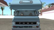 Ford Econoline E-200 1973 Motorhome for GTA San Andreas miniature 8