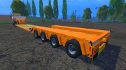 FSMT Heavy transport low loader trailer for Farming Simulator 2015 miniature 1