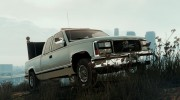 GMC Sierra 1992 (Construction Pickup with flashing orange lights) for GTA 5 miniature 4