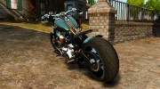 Harley Davidson Fat Boy Lo Racing Bobber для GTA 4 миниатюра 3