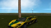 McLaren P1 GTR 2015 for GTA Vice City miniature 2