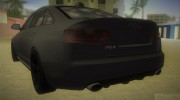 Audi RS6 W12 TT Black Revel for GTA Vice City miniature 3