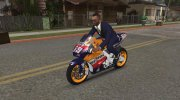 2006 Honda RC211V Repsol Nicky Hayden for GTA San Andreas miniature 3