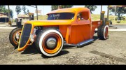 1936 Ford Pickup Hotrod Style for GTA 5 miniature 4
