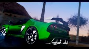 Lotus Exige Sport 350 Roadster Type 117 2014 для GTA San Andreas миниатюра 4