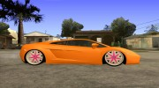 Lamborghini Gallardo White & Pink for GTA San Andreas miniature 5