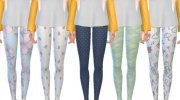 Pastel Themed Leggings for Sims 4 miniature 2